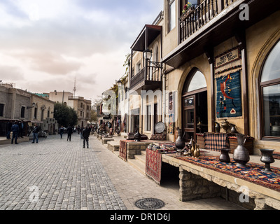 The Old Town (Icheri Sheher) Old Town of Baku, Azerbaijan. - Stock Photo