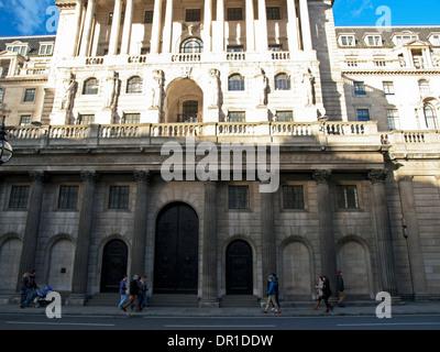 The Bank of England Headquarters, Threadneedle Street, City of London, London, England, United Kingdom - Stock Photo