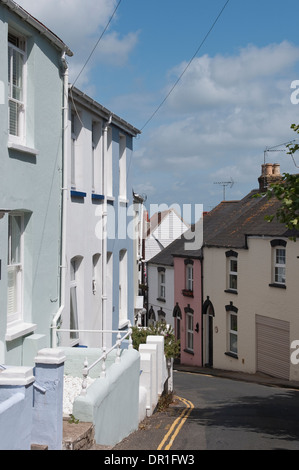 Pretty street in Cowes on the Isle of Wight, England. - Stock Photo