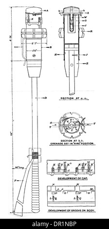 Hand Grenade Mark I world war one 1 British army issue - Stock Photo