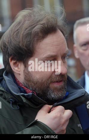 London, UK. 17th Jan, 2014. Ardal O'Hanlon feels the cold outside BBC Radio studios London 17/01/2014 Credit:  JOHNNY - Stock Photo