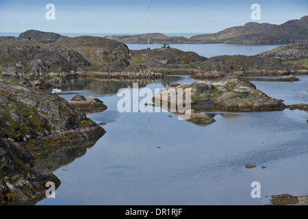 Fiord in Sisimiut (Holsteinsborg), West Greenland - Stock Photo