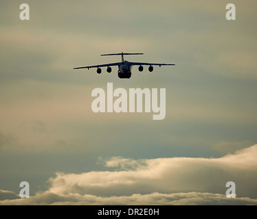 BAe 146-100 four engined jet departing RAF Lossiemouth.  SCO 9243 - Stock Photo