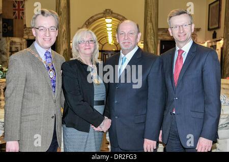 Belfast Northern Ireland 17 Jan 2014 Councilor Brian