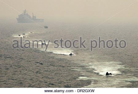 31st Marine Expeditionary Unit 31st MEU embarked aboard the amphibious dock landing ship - Stock Photo