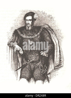 Portrait of Henry Howard, Earl of Surrey - Britsh engraving - Stock Photo