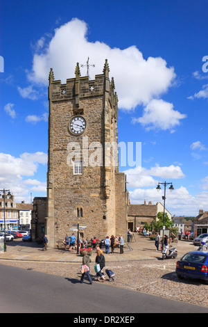 Market Square Richmond North Yorkshire England - Stock Photo
