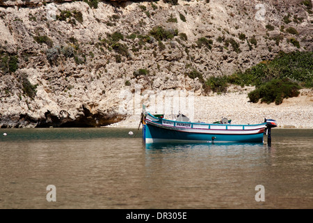 two traditional fishing boats moored in the Inland Sea - Stock Photo