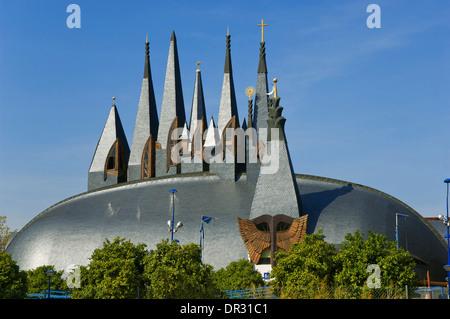 Old Hungary Pavilion, La Cartuja Island, Seville, Region of Andalusia, Spain, Europe - Stock Photo