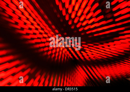Red lights an LED wall - Stock Photo