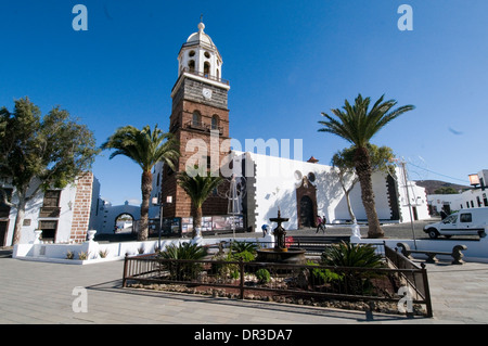 Iglesia Nuestra Señora de Guadalupe - Church in Teguise Teguise Lanzarote canary islands canaries island town tourist - Stock Photo