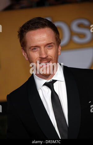 Los Angeles, USA. 18th Jan, 2014. Actor Damian Lewis attends the 20th annual Screen Actor's Guild Awards aka SAG - Stock Photo