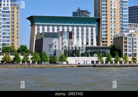 Canary Riverside Plaza Hotel and Virgin Active Gym, Canary Riverside, Docklands, London, United Kingdom - Stock Photo