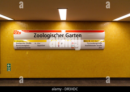 [Editorial Use Only] U-Bahn station sign of Zoologischer Garten, Berlin, Germany - Stock Photo