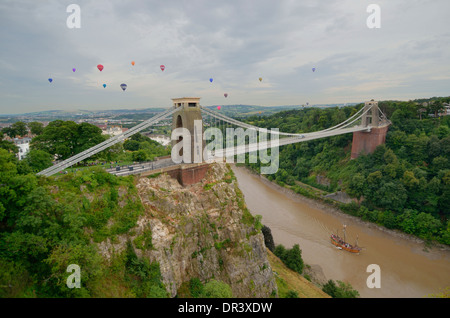 Clifton Suspension Bridge Bristol England - Stock Photo