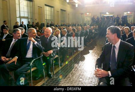 United States Deputy Attorney General James Cole, left; U.S. Attorney General Eric Holder, second left; U.S. Senator - Stock Photo