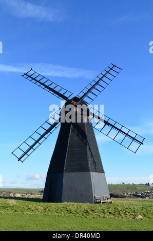 Rottingdean smock windmill near Brighton in Sussex,England.Built in 1802 this traditional mill is one of the oldest - Stock Photo