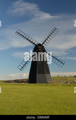 Rottingdean smock windmill near Brighton,East Sussex.Built in 1802 and one of the finest in the County. - Stock Photo