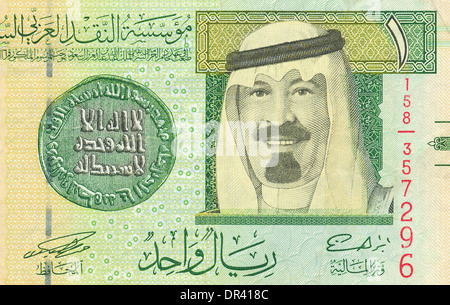 Fragment of the Saudi Arabian riyal - Stock Photo