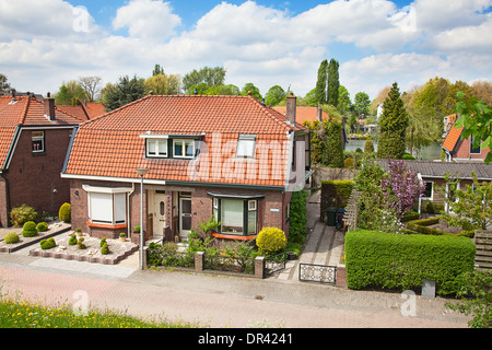 Dutch coutryside houses near Haarlem, Netherlands - Stock Photo