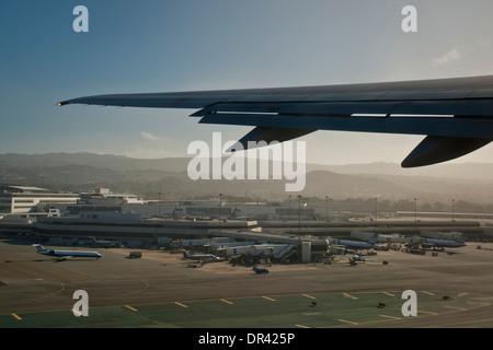Taking off from San Francisco International Airport (SFO), California - Stock Photo