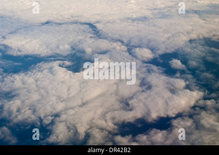 Stratus clouds over the Pacific Ocean - Stock Photo