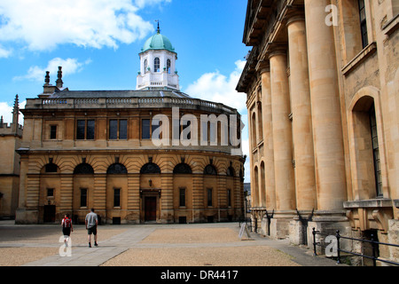 The Clarendon Building and the Sheldonian Theatre in Oxford, England - Stock Photo