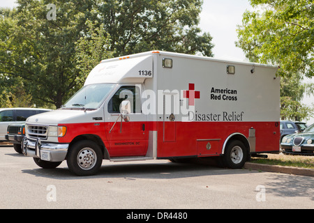 American Red Cross Disaster Relief truck - Washington, DC USA - Stock Photo