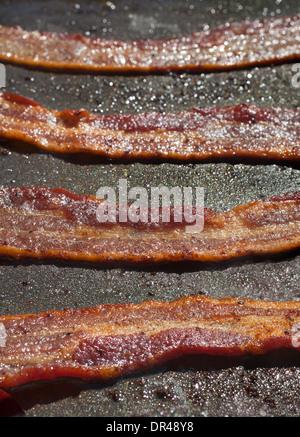 Fried bacon - Stock Photo