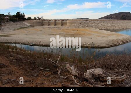 Santa Ynez Valley, California, USA. 19th Jan, 2014. Governor Jerry Brown declares a state drought emergency for - Stock Photo