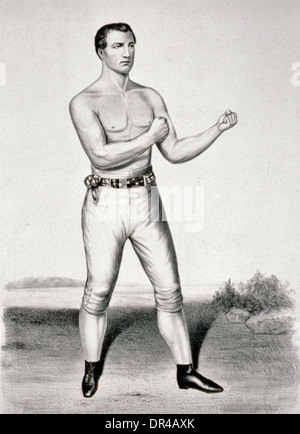 John C. Heenan, the champion of America: (the Benicia boy), 1860. John Heenan was an American bare-knuckle prize - Stock Photo