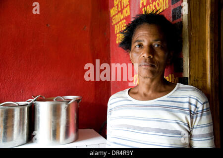 Apr 29, 2009 - Port au Prince, Haiti - Shop owners who received grants from an international aid organization await - Stock Photo