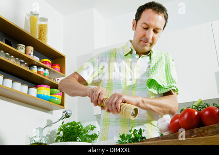 Man In Kitchen - Stock Photo