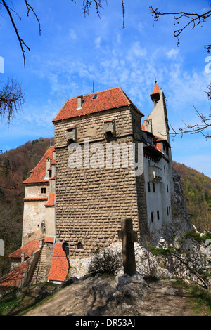 Bran castle (Dracula's castle) near Brasov, Transylvania, Romania, Europe - Stock Photo