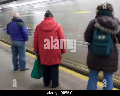 Jan 06, 2009 - New York, New York, U.S. - Subway travel,New York, New York (Credit Image: © David H. Wells/ZUMAPRESS.com) - Stock Photo