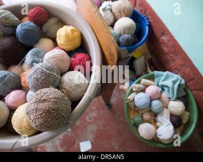 Mar 29, 2009 - Santiago Atitlan, Solola, Guatemala - Weaver's yarn in, Santiago Atitlan, Solola, Guatemala (Credit - Stock Photo