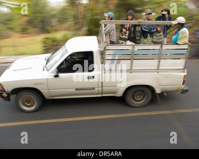 Mar 29, 2009 - Santiago Atitlan, Solola, Guatemala - Travelers in truck in Santiago Atitlan, Solola, Guatemala (Credit - Stock Photo