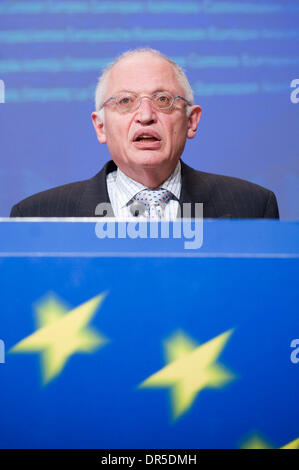 Feb 25, 2009 - Brussels, Belgium - Vice-President of the European Commission and EU commissioner in charge of enterprise - Stock Photo