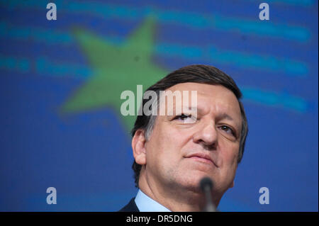 Feb 25, 2009 - Brussels, Belgium - European Commission President JOSE MANUEL BARROSO at a press conference concerning - Stock Photo