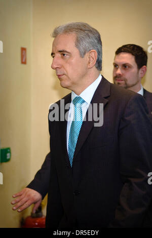 Mar 13, 2009 - Brussels, Belgium - Minister - President of the Free State of Saxony, STANISLAW TILLICH arrives for - Stock Photo