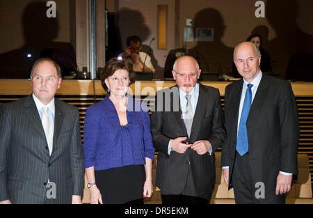 Mar 13, 2009 - Brussels, Belgium - CEO of General motors Europe, German CARL-PETER FORSTER, Vice-President of the - Stock Photo