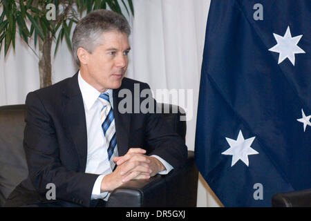 Dec 02, 2008 - Brussels, Belgium - Australian Foreign Minister STEPHEN SMITH  before the bilateral meeting at European - Stock Photo