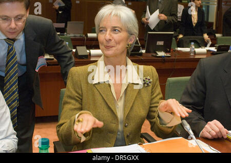 Dec 02, 2008 - Brussels, Belgium - French Minister for Economy and President of the European council CHRISTINE LAGARDE - Stock Photo
