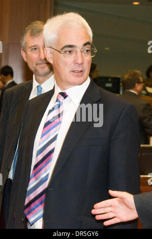 Dec 02, 2008 - Brussels, Belgium - British Chancellor of the Exchequer ALISTAIR DARLING at the start of the Ecofin, - Stock Photo