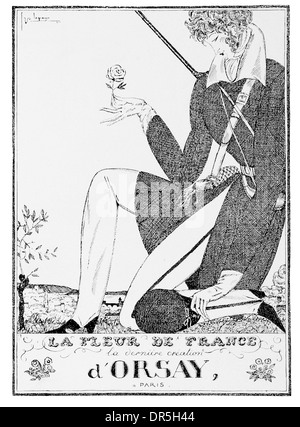 French Press Advertisment 1922 By Georges Lepape for d'Orsay Paris - Stock Photo