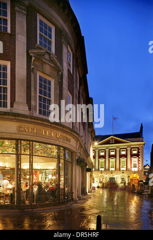 Betty's Tearooms and the Mansion House, St Helen's Square, York, Yorkshire, United Kingdom. - Stock Photo