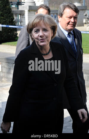 Mar 19, 2009 - Brussels, Belgium - German Chancellor ANGELA MERKEL attends a meeting of the EEP European People's - Stock Photo