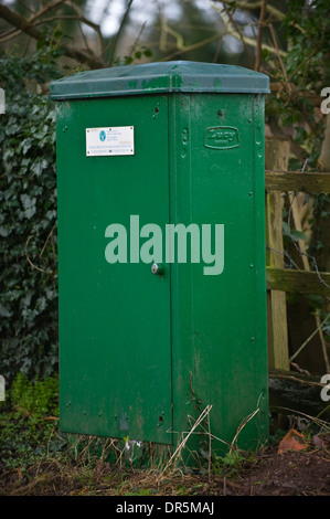 Environment Agency Flood Warning Monitoring Station on River Dore at Peterchurch Herefordshire England UK - Stock Photo