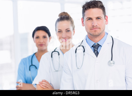Portrait of confident happy group of doctors - Stock Photo