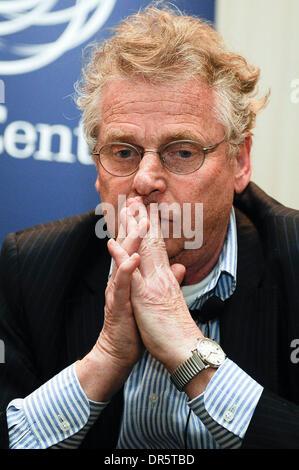 Member of European Parliament , leader of Greens group Daniel Cohn-Bendit  during debate on future of European Union - Stock Photo